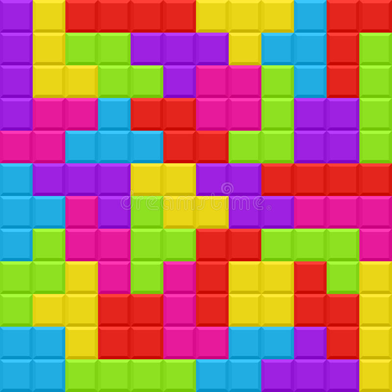 Modelo inconsútil del fondo de los bloques multicolores stock de ilustración