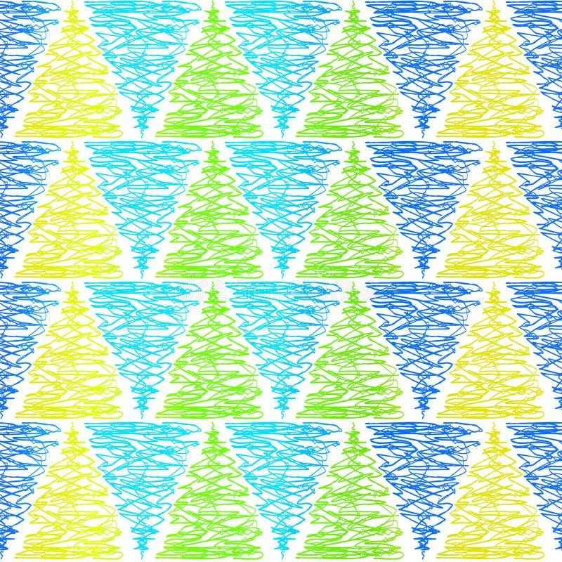 Modelo inconsútil del fondo de los triángulos del garabato stock de ilustración
