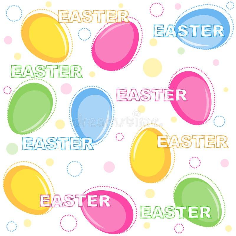 Modelo inconsútil del fondo de Pascua stock de ilustración