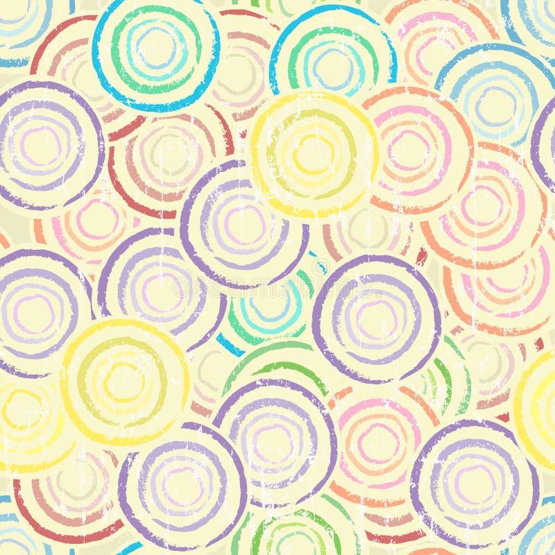 Modelo inconsútil del fondo del círculo ilustración del vector