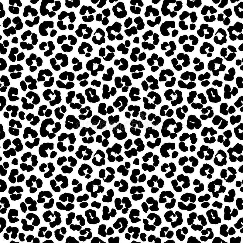 Modelo inconsútil del fondo del estampado leopardo Rebecca 36 stock de ilustración