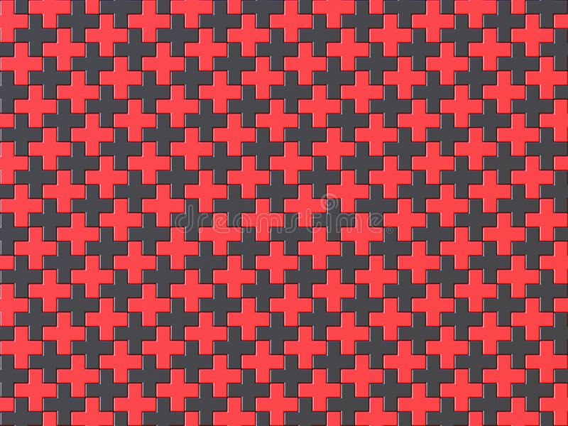 Modelo inconsútil del fondo del rompecabezas de la Cruz negra y Roja 3 libre illustration