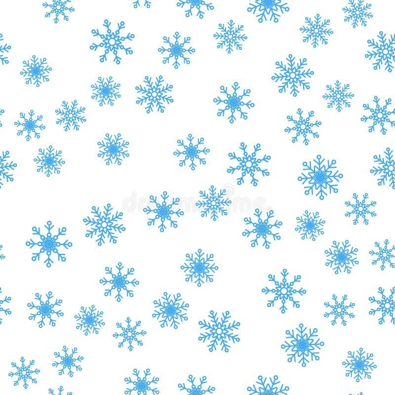 Modelo inconsútil del fondo del vector de los copos de nieve del invierno libre illustration