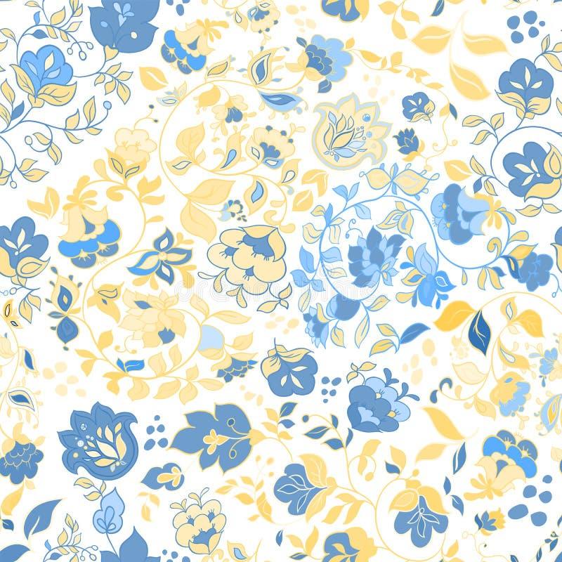 Modelo inconsútil del garabato del verano del vector Fondo floral ilustración del vector