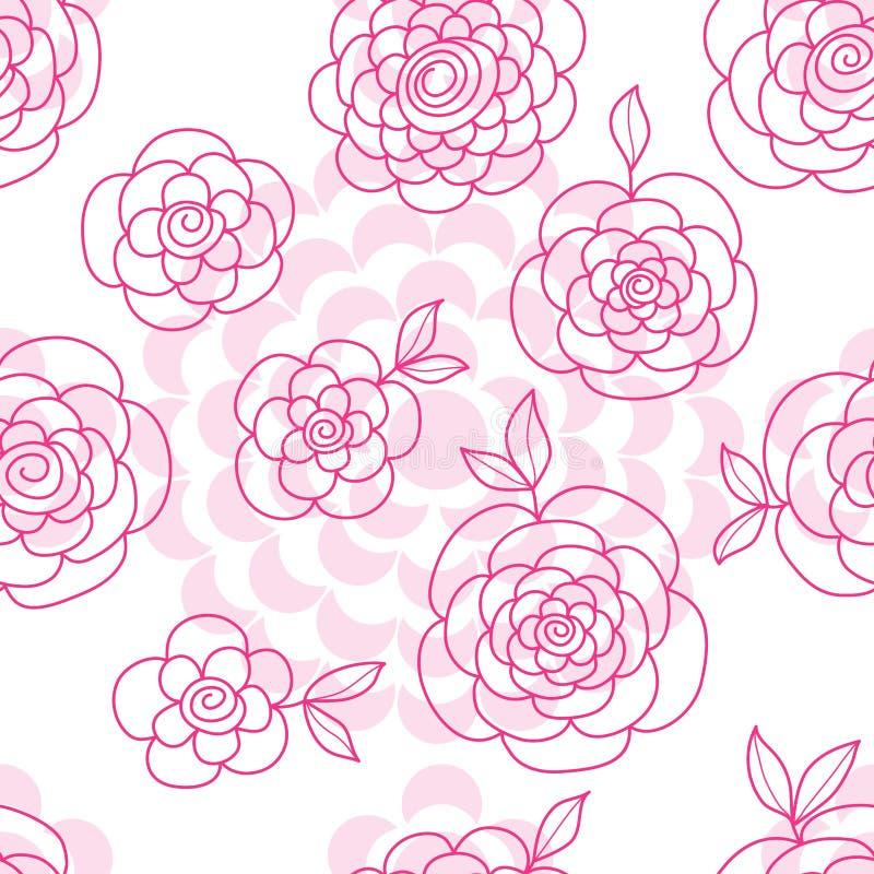 Modelo inconsútil del geo del dibujo de la flor stock de ilustración