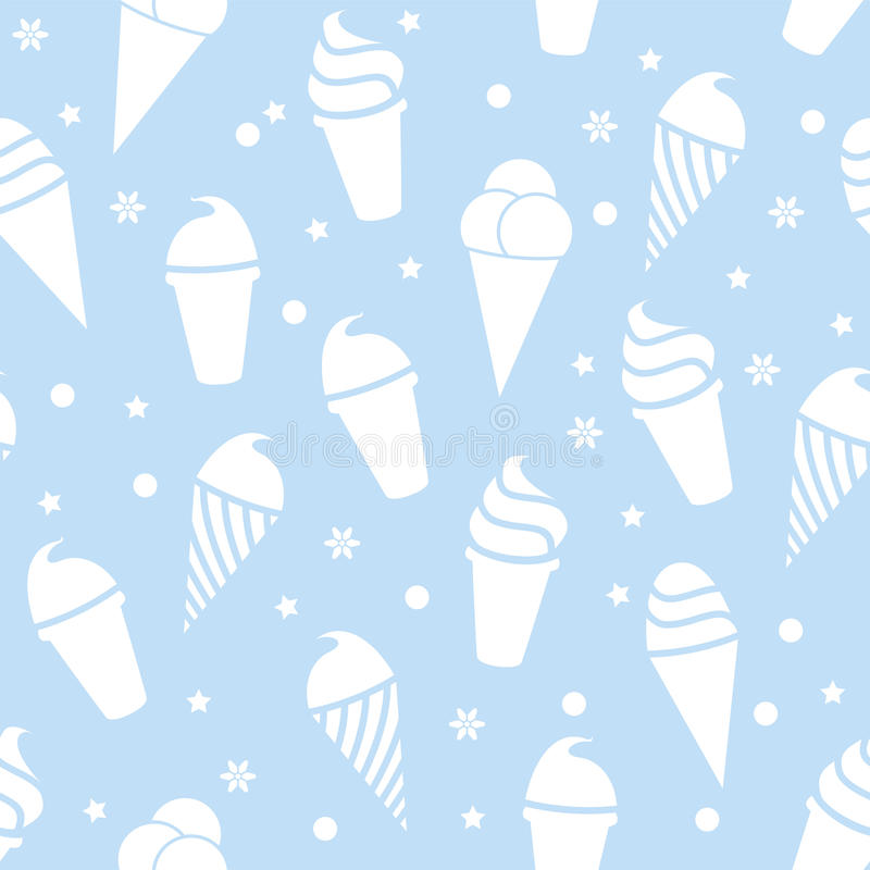 Modelo inconsútil del helado libre illustration
