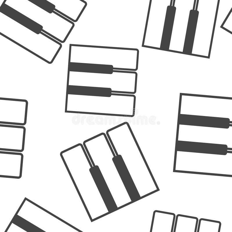 Modelo inconsútil del icono de la llave del piano del ejemplo del vector en un fondo blanco libre illustration