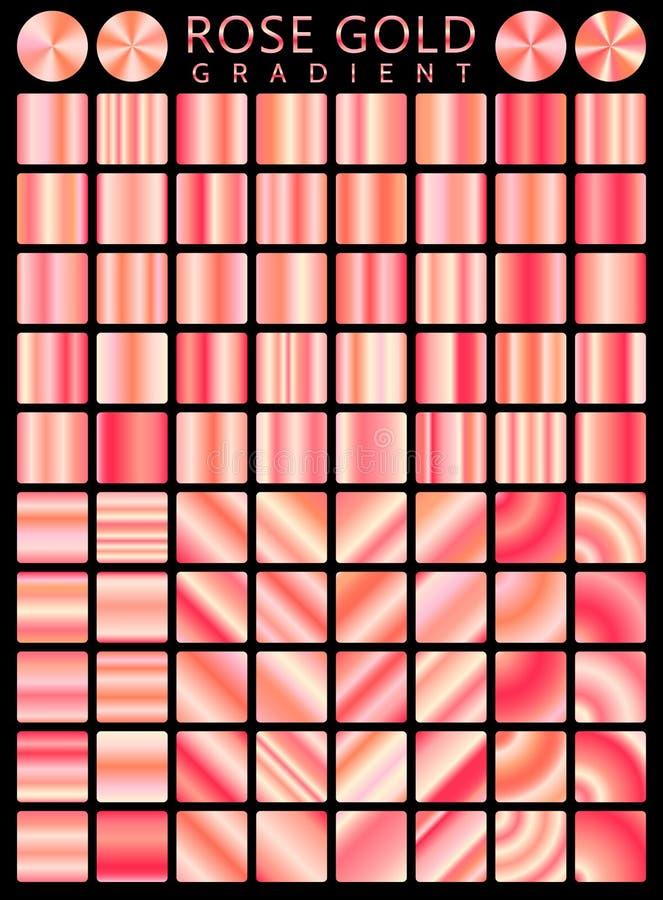 Modelo inconsútil del icono del vector de la textura del fondo de Rose Gold Illus de la luz, realista, elegante, brillante, metál ilustración del vector