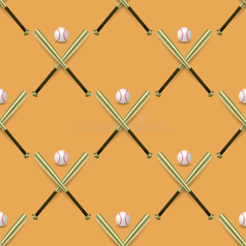 Modelo inconsútil del inventario del deporte del béisbol libre illustration
