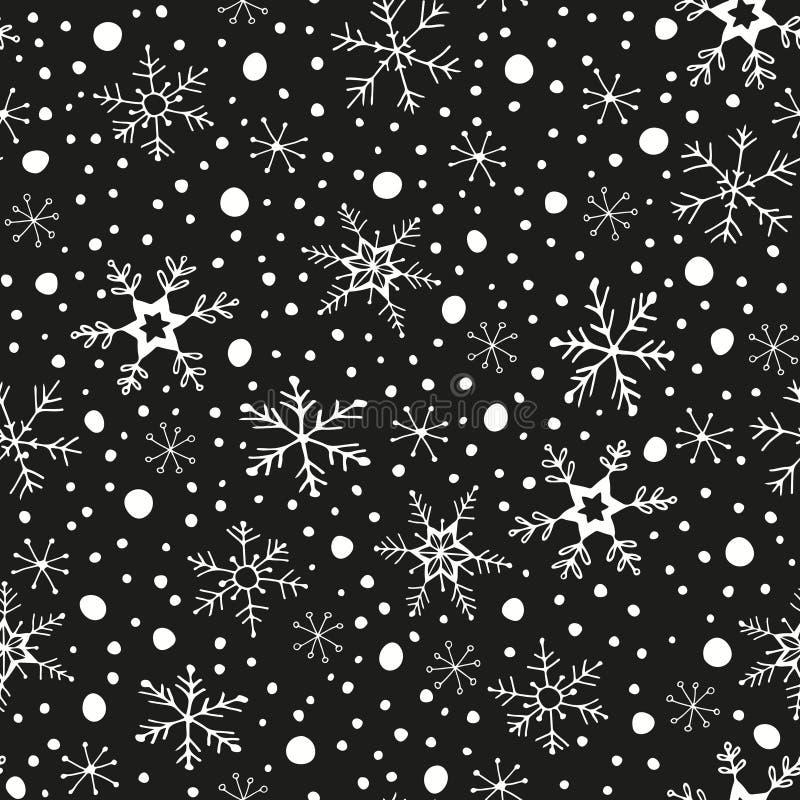 Modelo inconsútil del invierno fotografía de archivo