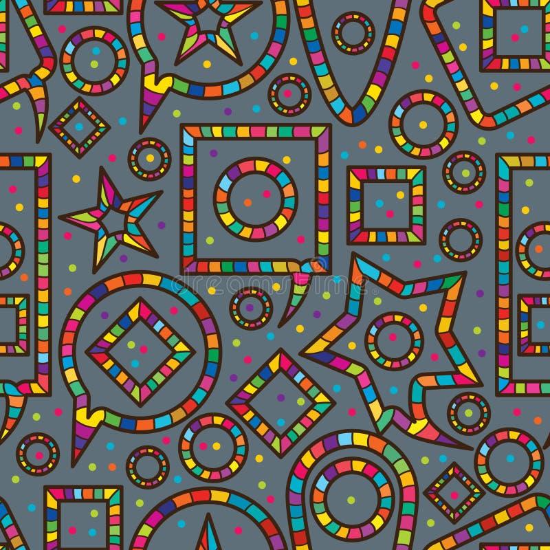 Modelo inconsútil del juego colorido del discurso ilustración del vector