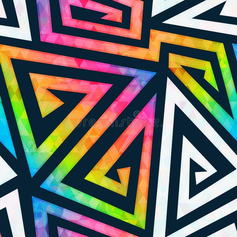 Modelo inconsútil del laberinto del arco iris stock de ilustración