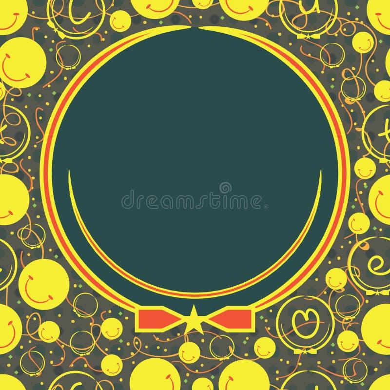 Modelo inconsútil del logotipo feliz sonriente stock de ilustración