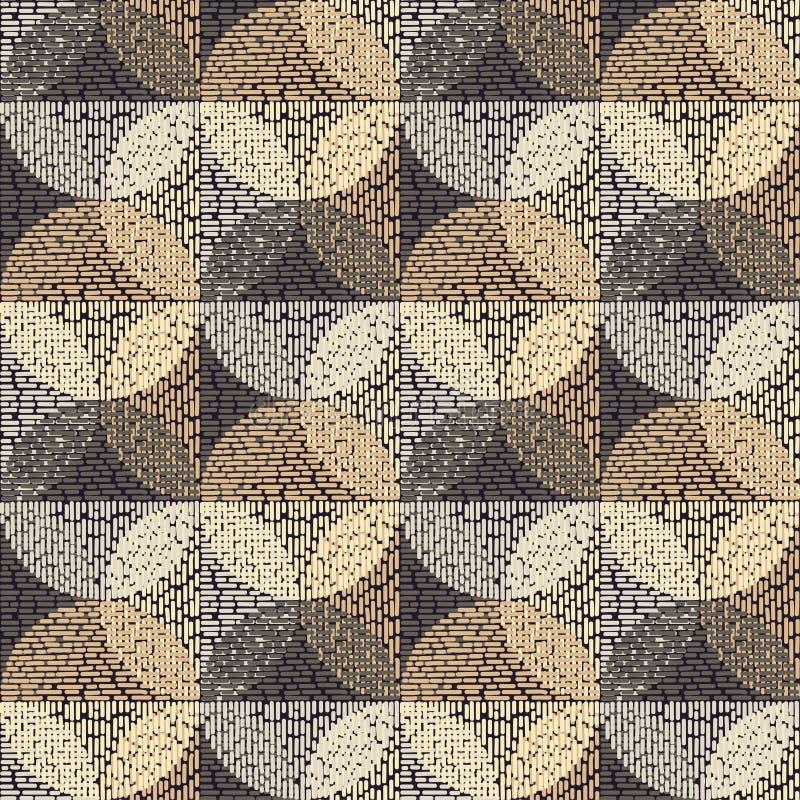 Modelo inconsútil del lunar brushwork Las bolas coloridas Textura del garabato ilustración del vector