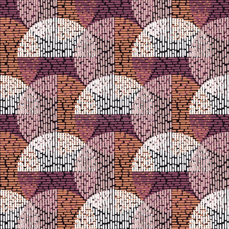 Modelo inconsútil del lunar brushwork Las bolas coloridas Textura del garabato stock de ilustración