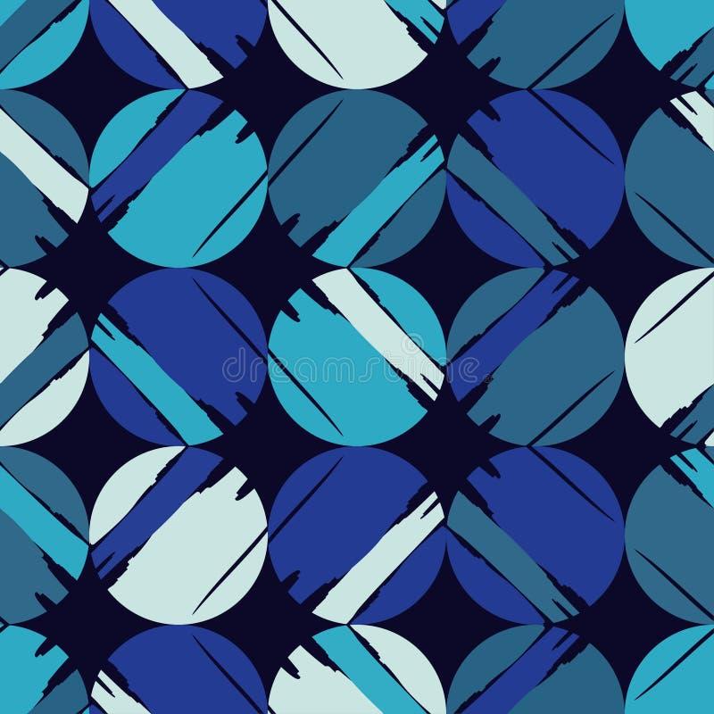 Modelo inconsútil del lunar Fondo geométrico brushwork Puntos, círculos y botones libre illustration