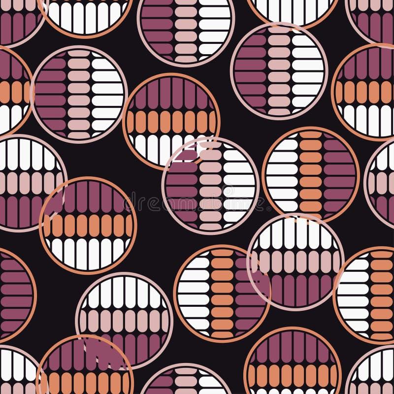 Modelo inconsútil del lunar Las bolas coloridas La textura de las tiras stock de ilustración