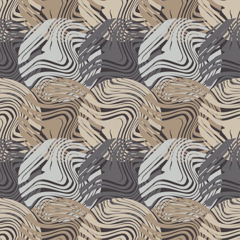 Modelo inconsútil del lunar Textura de madera Fondo geométrico Las bolas coloridas Textura del garabato stock de ilustración