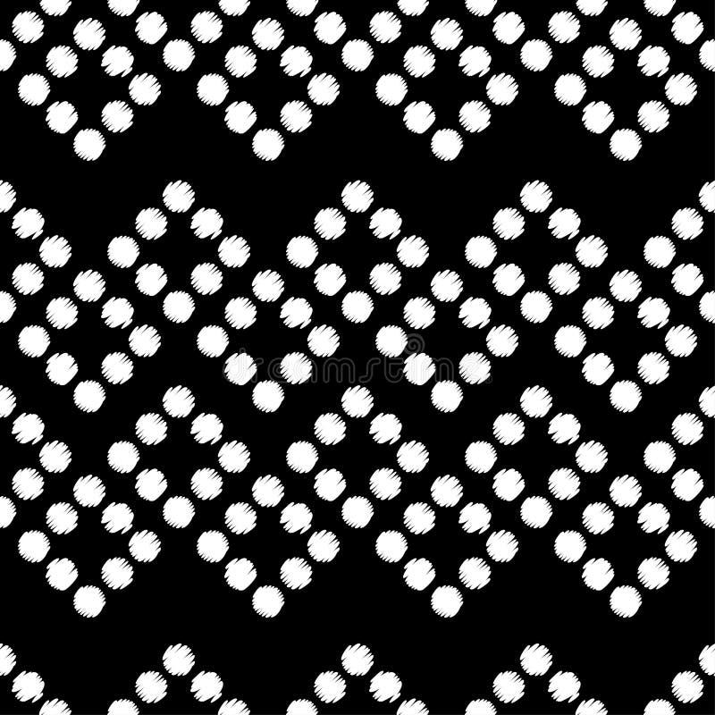 Modelo inconsútil del lunar Trama de la mano brushwork Fondo geométrico Textura del garabato libre illustration