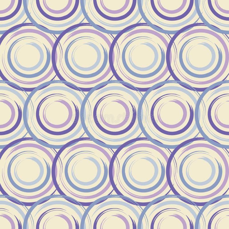 Modelo inconsútil del lunar Trama manual brushwork Fondo geométrico Textura del garabato stock de ilustración