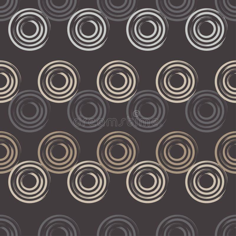 Modelo inconsútil del lunar Trama manual brushwork Fondo geométrico Textura del garabato ilustración del vector
