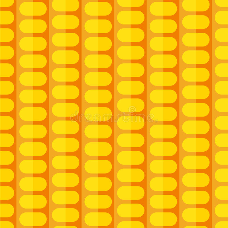 Modelo inconsútil del maíz estilizado ilustración del vector