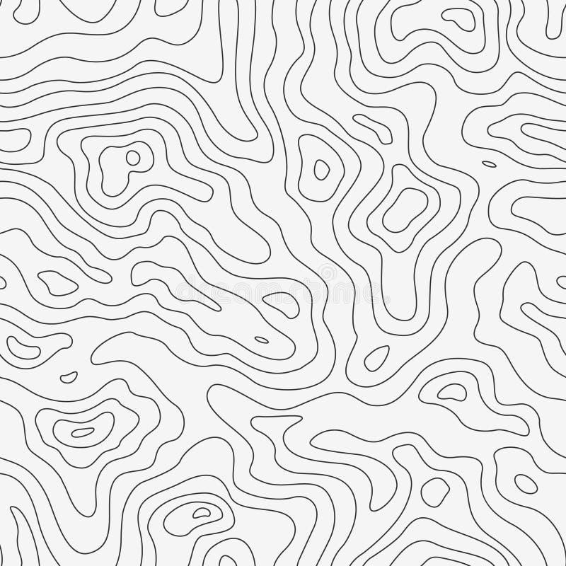 Modelo inconsútil del mapa topográfico ilustración del vector