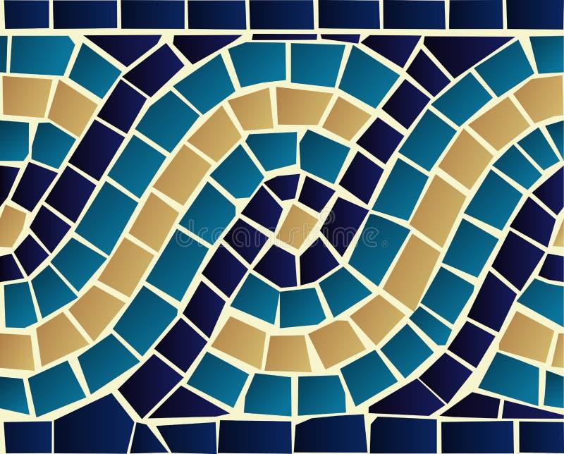 Modelo inconsútil del mosaico de la onda ilustración del vector