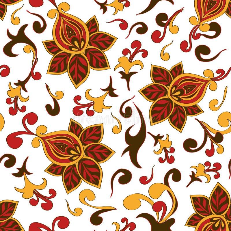 Modelo inconsútil del ornamento floral de Paisley ilustración del vector
