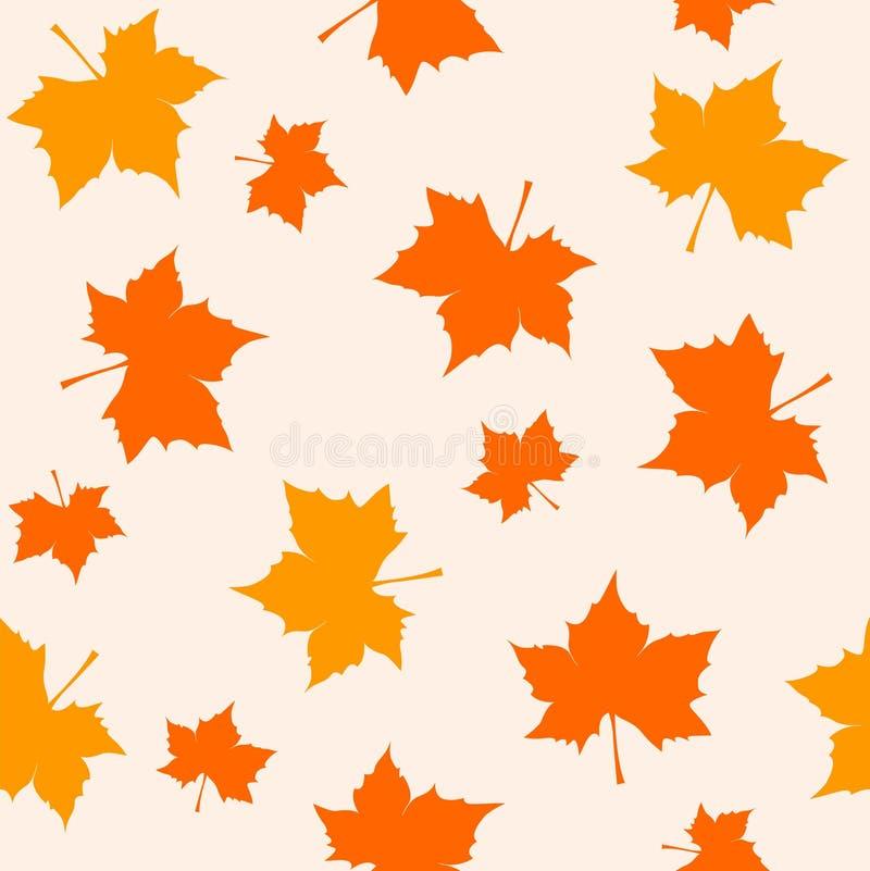Modelo inconsútil del otoño stock de ilustración