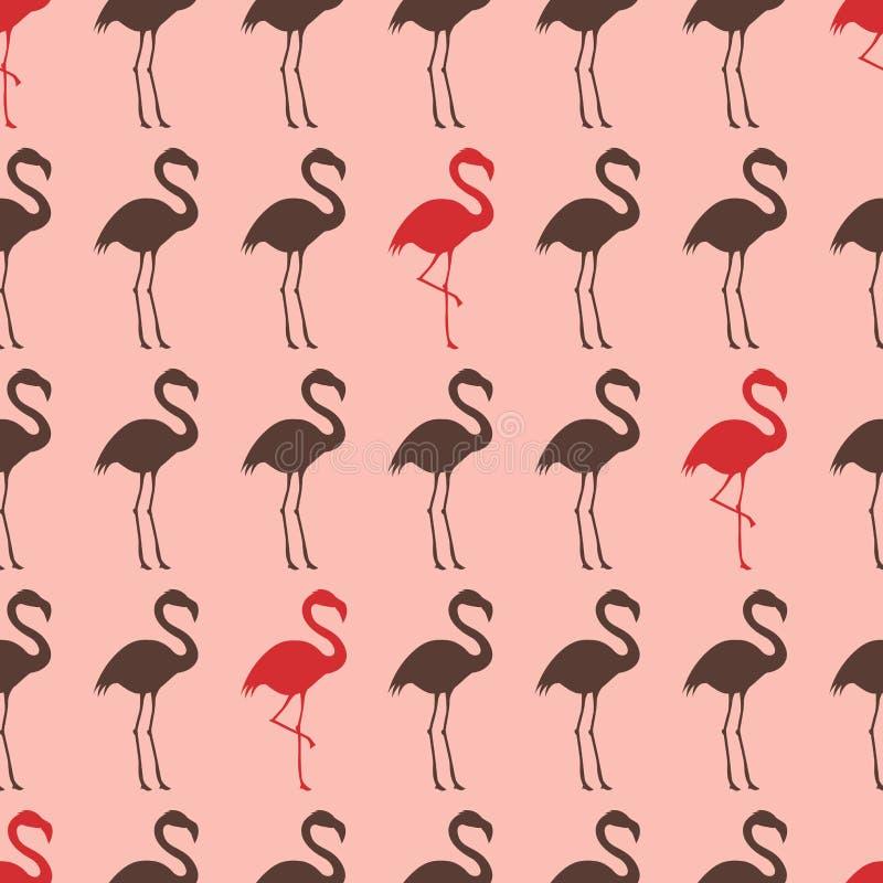 Modelo inconsútil del pájaro de la grúa libre illustration