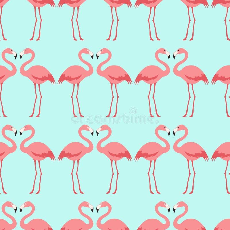 Modelo inconsútil del pájaro del flamenco ilustración del vector