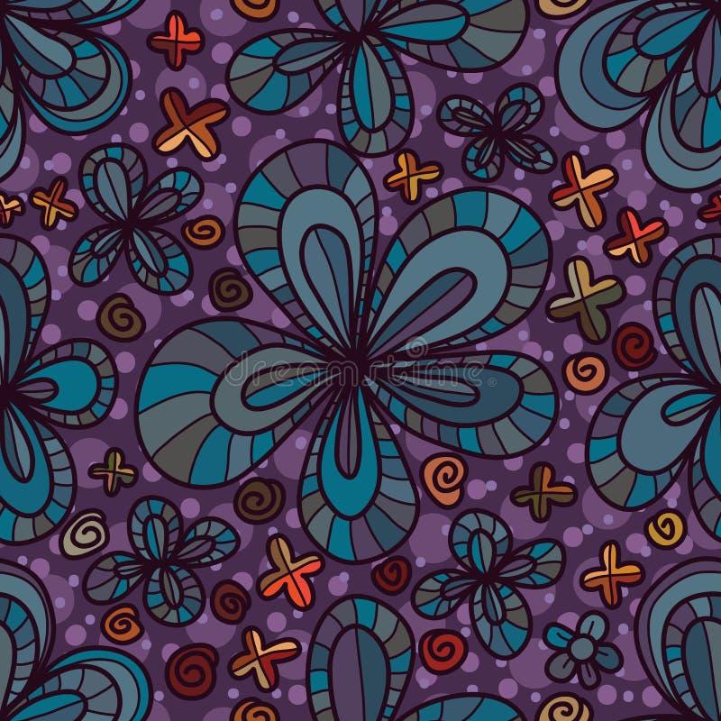 Modelo inconsútil del pétalo de la flor cinco libre illustration