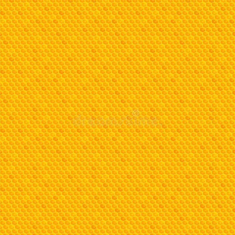 Modelo inconsútil del panal Miel-colmenar Trabajo de la abeja ilustración del vector