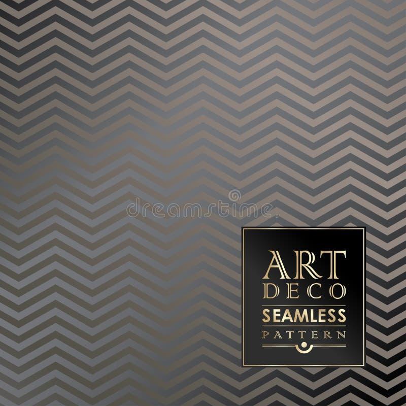 Modelo inconsútil del papel pintado del vintage de Art Deco ilustración del vector