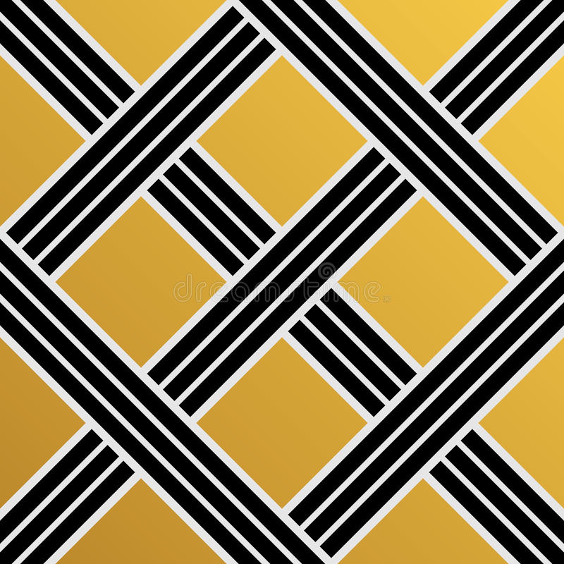 Modelo inconsútil del papel pintado del vintage de Art Deco Vector geométrico de ilustración del vector