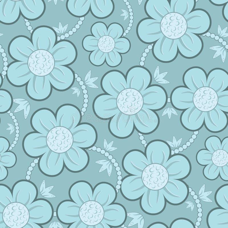 Modelo inconsútil del papel pintado floral stock de ilustración