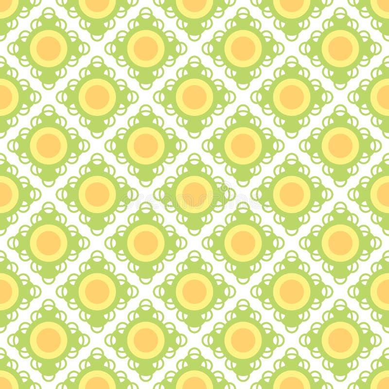 Modelo inconsútil del papel pintado retro amarillo foto de archivo