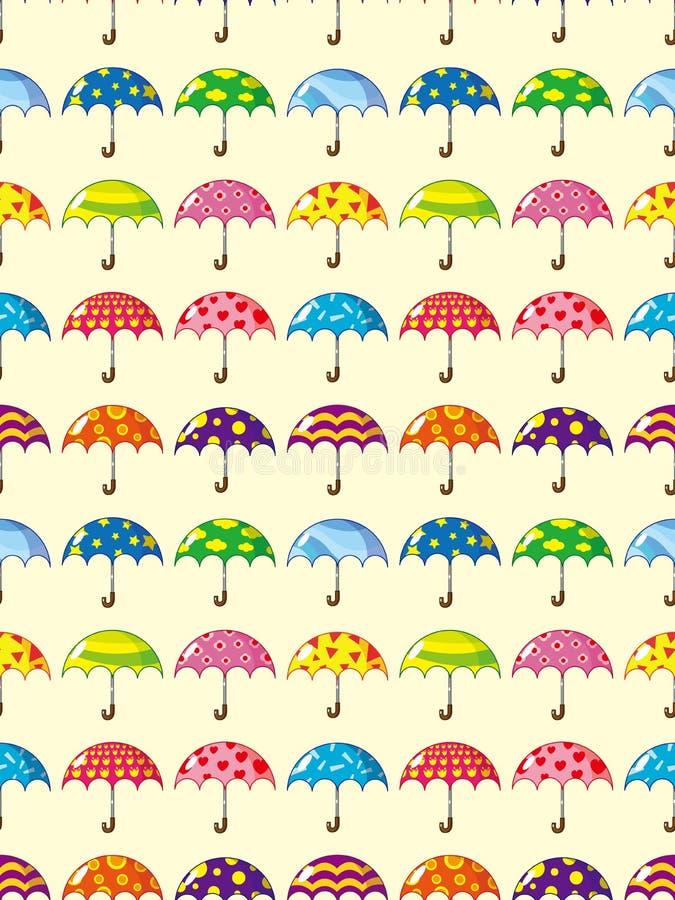 Modelo inconsútil del paraguas stock de ilustración