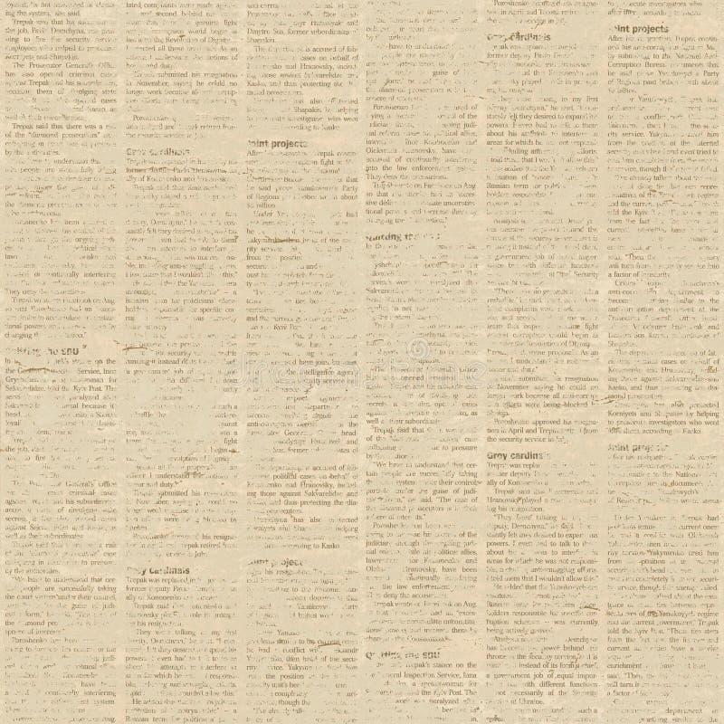 Modelo inconsútil del periódico viejo stock de ilustración