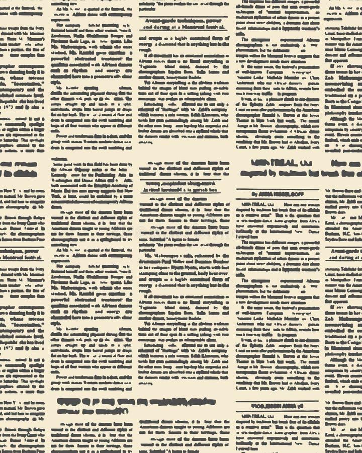 Modelo inconsútil del periódico viejo Fondo del vector del vintage nuevo libre illustration