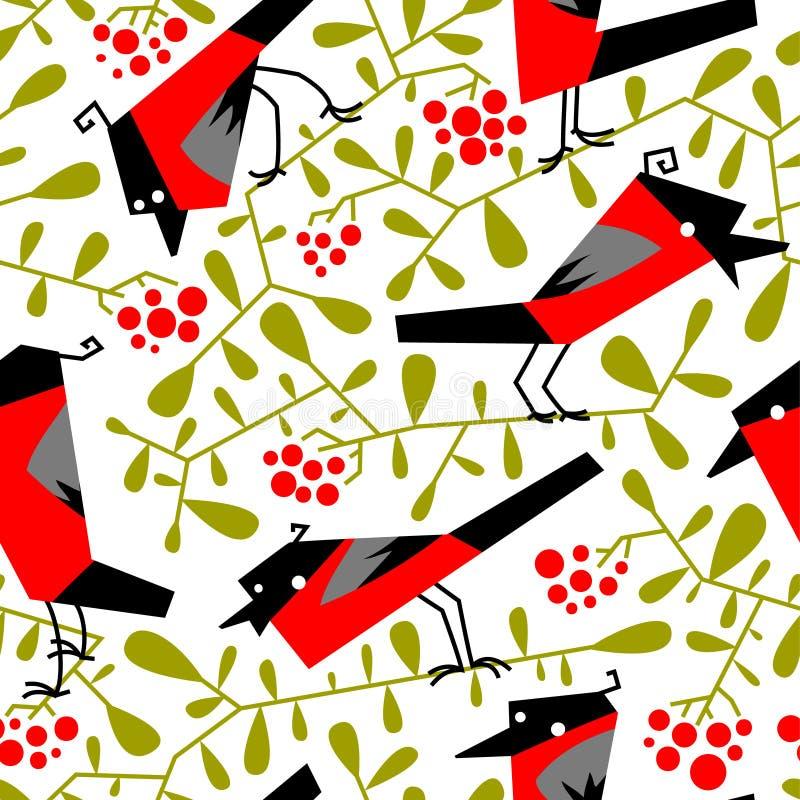 Modelo inconsútil del piñonero en estilo simple plano Garabato b floral libre illustration