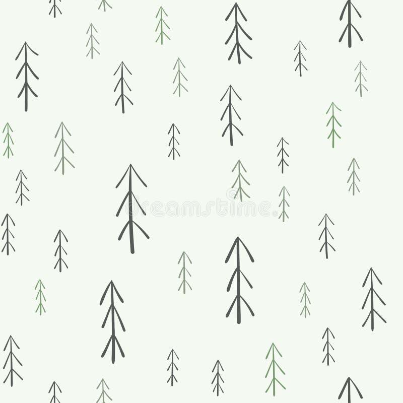 modelo inconsútil del Piel-árbol ilustración del vector