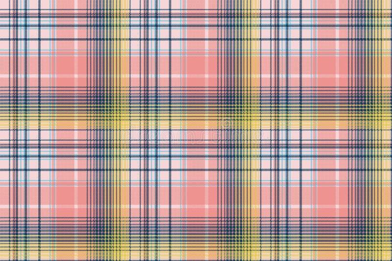 Modelo inconsútil del pixel de la tela escocesa del control del color claro libre illustration