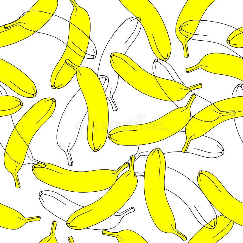 Modelo inconsútil del plátano en vector fotografía de archivo