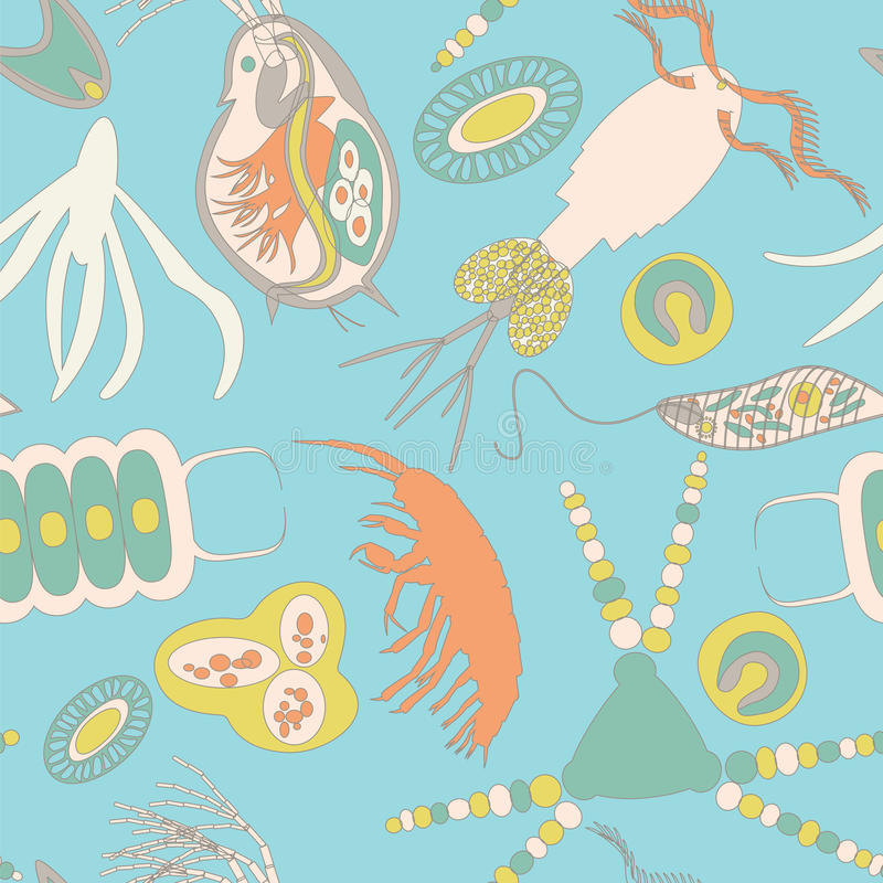 Modelo inconsútil del plancton libre illustration