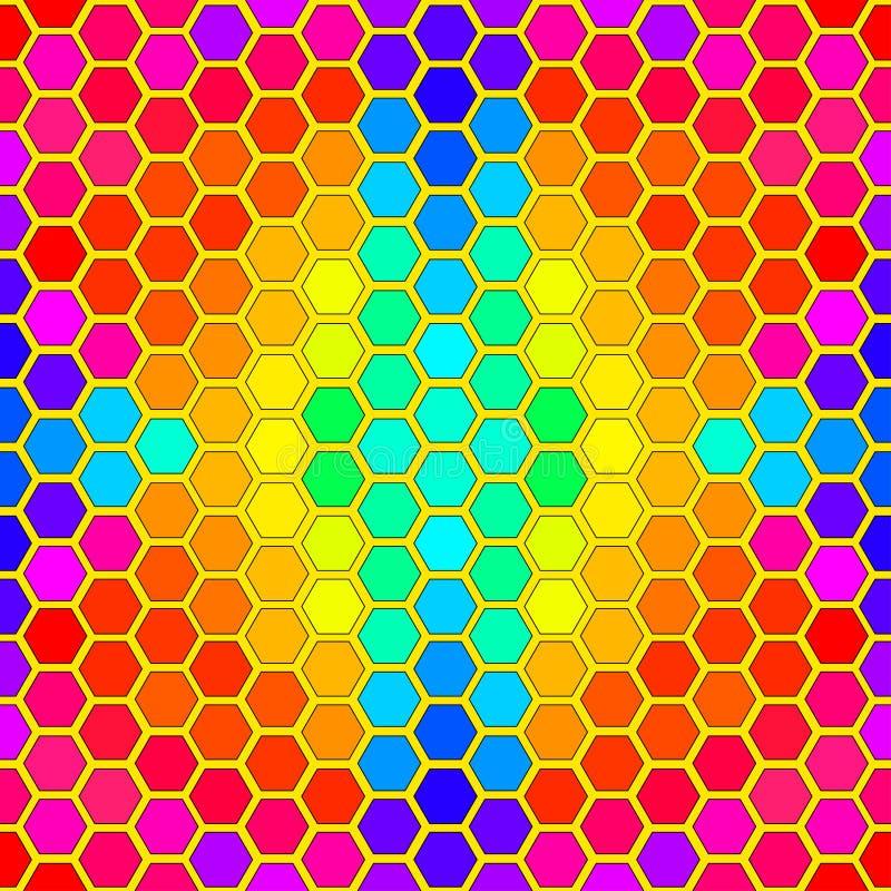 Modelo inconsútil del polígono del arco iris Ilustración del vector libre illustration