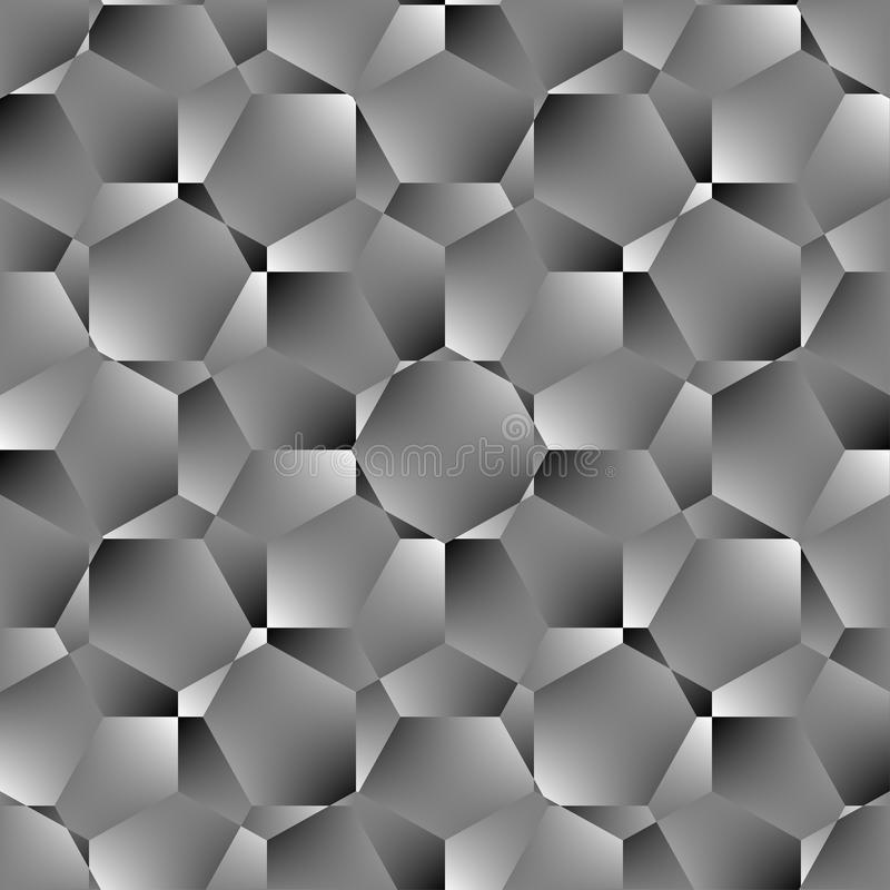 Modelo inconsútil del polígono geométrico Diseño gráfico de la moda Ilustración del vector Diseño del fondo Ilusión óptica 3D Agu libre illustration