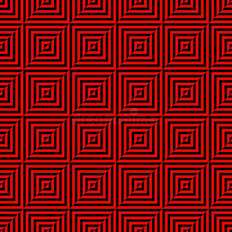 Modelo inconsútil del polígono geométrico Diseño gráfico de la moda Ilustración del vector Diseño del fondo Ilusión óptica 3D Sty ilustración del vector