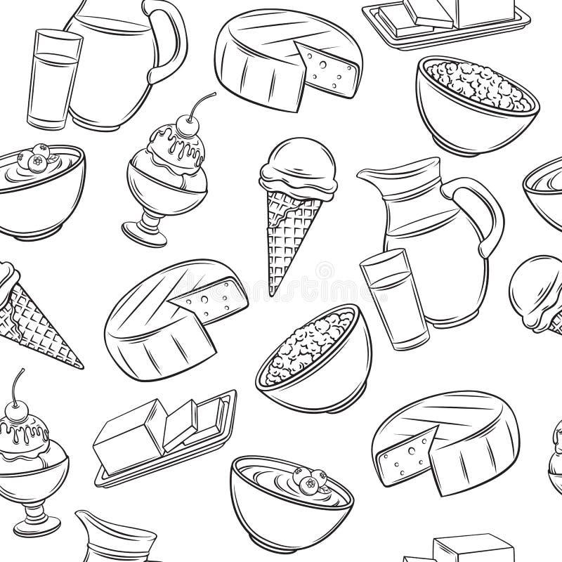 Modelo inconsútil del producto lácteo libre illustration